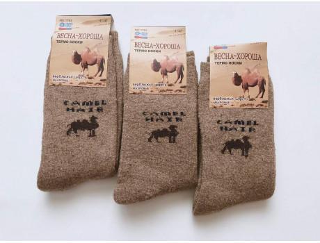 Термо носки мужские верблюжья шерсть махровые Весна-Хороша 1763