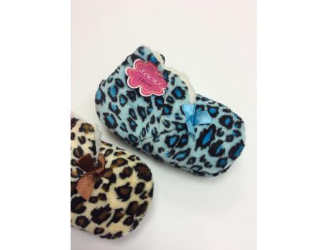 Тапочки детские Socks принт тигровый-1