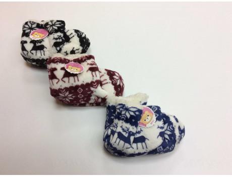 Тапочки детские от производителя Ангел принт снежинки