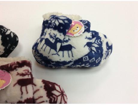 Тапочки детские от производителя Ангел принт снежинки-1