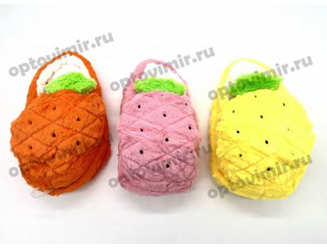 Тапочки женские Лиана следочки ананасы с открытой пяткой W-136