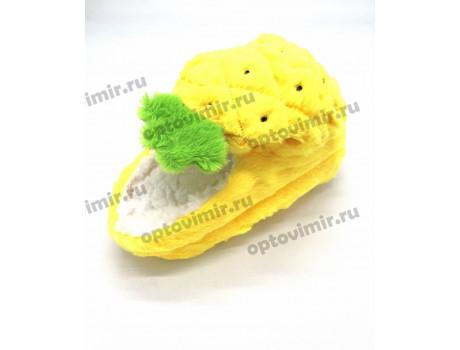 Тапочки женские Лиана следочки ананасы с открытой пяткой W-136-2