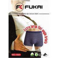 Мужские боксеры великаны полоска Fukai 1201 оптом