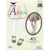 Колготки белые детские бабочка капрон Fute Алиса 837 оптом