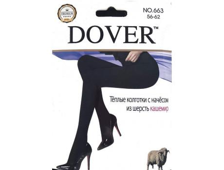 Колготки женские черные теплые Dover 663 кашемир c начесом-2