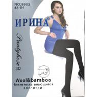 Женские колготки шерсть ромбики Ирина 9903 оптом