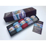 Носки женские RoeRue лечебные в коробке 2919 медвежья шерсть оптом