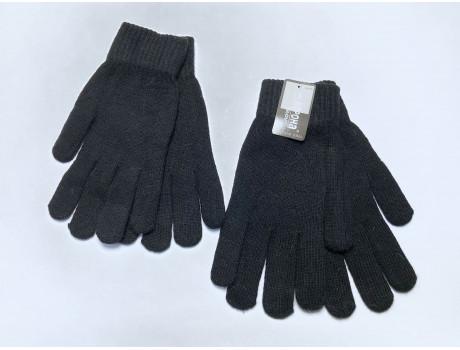 Мужские перчатки черные с начесом Корона Н8115