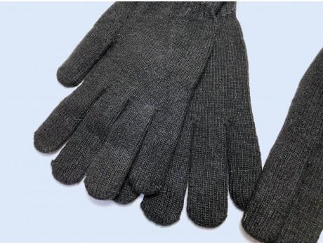 Мужские перчатки черные с начесом Корона Н8115-1