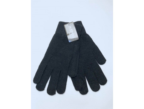 Мужские перчатки черные с начесом Корона Н8115-2