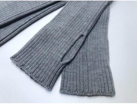 Гольфы шерстяные женские без пятки и носка RuSocks 3BR-2