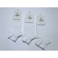 Носки женские хб короткие белые Dmdbs BY-037 оптом