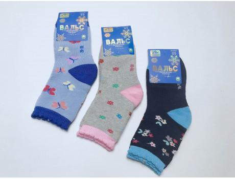 Носки детские для девочек тером махровые Вальс 2802