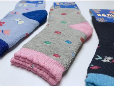 Носки детские для девочек тером махровые Вальс 2802-1