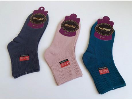 Носки женские с комфортной резинкой однотонные темные DMDBS В010