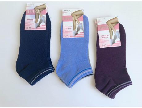 Женские носки хб короткие однотонные Ирина 2821-2 дешево