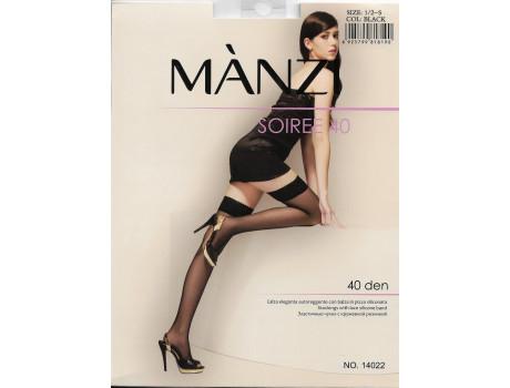 Чулки женские Manzi капроновые 40 den с кружевной резинкой 14022