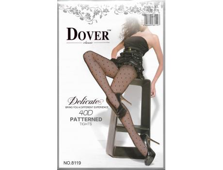 Колготки женские 40den капроновые черные в горошек Dover 8119