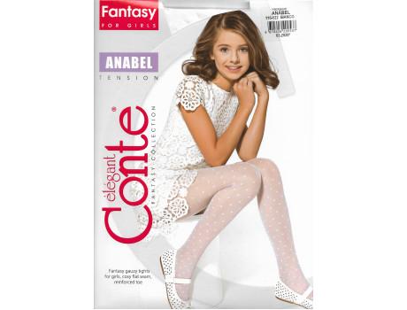 Колготки фантазийные для девочек капрон сердце Conte anabel