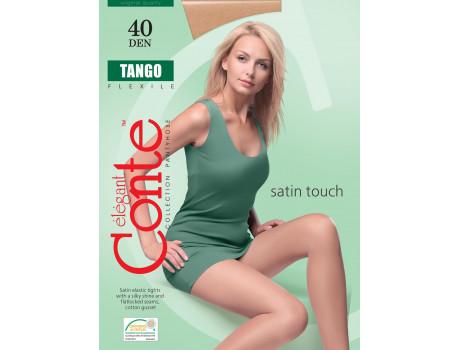 Эластичные женские колготки с шелковистым эффектом  Conte Tango 40