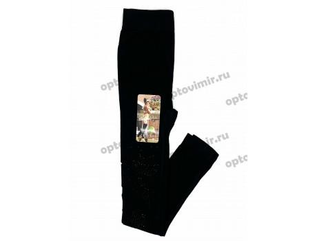 Лосины женские Роза стразы на одной ноге С023