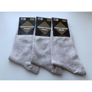 Носки подростковые серые  ШАГ+  П-01 лён оптом