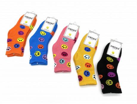 Носки детские Dmdbs для девочек махровые яркие смайлы С512
