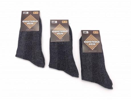 Носки для подростковые черные хлопок ШАГ+  П-01