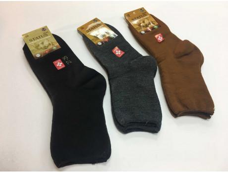 Термо носки без резинки мужские Status махровые верблюжьи-1