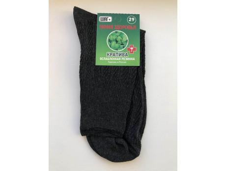 Носки мужские тонкие ослабленная резинка крапива ШАГ+ К30 -2