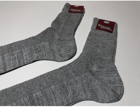 Носки мужские Лысьва высокие в рубчик серые С47-1