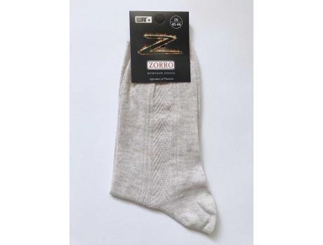 Носки мужские высокие ШАГ+ лен 100%  М3-2