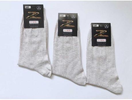 Носки мужские высокие ШАГ+ лен 100%  М3