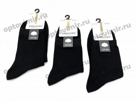 Носки мужские Amigobs из хлопка классика черные 8273