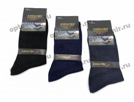 Носки мужские Amigobs классика длинные однотонные 5047