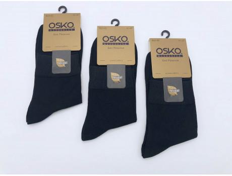 Носки мужские хлопковые классические черные срю длины ОСКО  В23-22