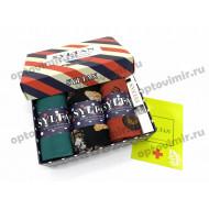 Носки мужские Syltan арома в коробке цветные с парфюмом 9558 оптом