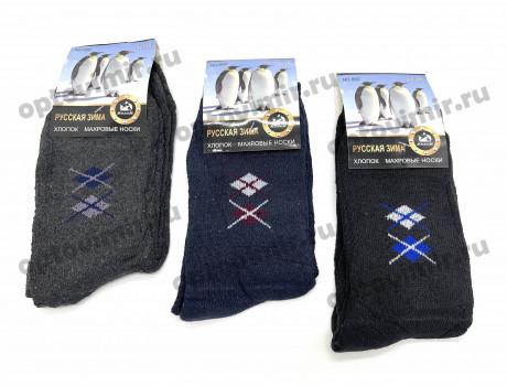 Носки мужские Лиза махра дешевые в ассортименте-1