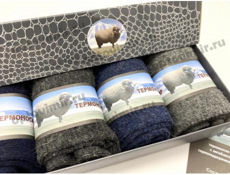 Носки мужские RoeRue шерсть яка ароматизированные в коробке 1858-1