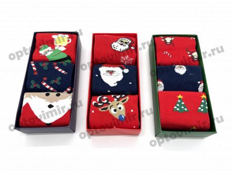 Носки мужские Dmdbs новый год в коробке по 3 пары АМ-152-1