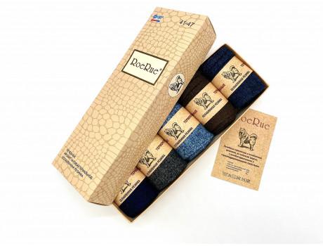 Носки мужские в коробках арома собачья шерстью мягкие RoeRue  1855