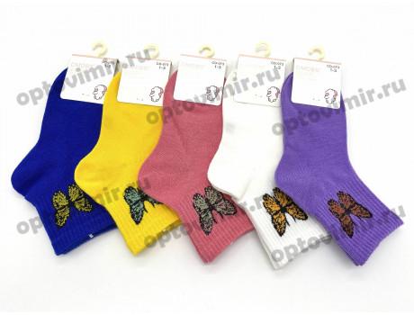 Носки детские DMDBS для девочек рис. бабочки CD-073