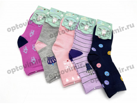 Носки подростковые Вальс для девочек микс рисунков 5095