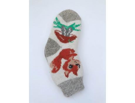 Детские носки шерсть из Тамбова микс рисунки -5