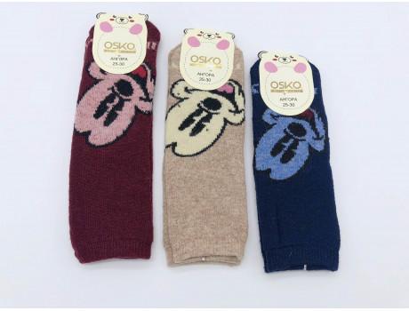 Носки детские махровые с ангорой  рисунок микки ОСКО С32-01
