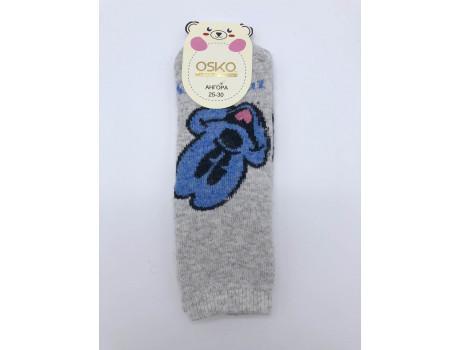 Носки детские махровые с ангорой  рисунок микки ОСКО С32-01-1