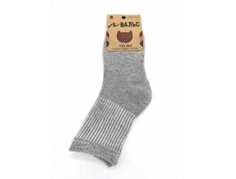 Носки подростковые для девочек из хлопка махровые с люрексом Вальс 7772-1