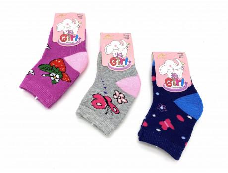 Носки детские махровые термо для девочек с рисунком Вальс Ва-30-1