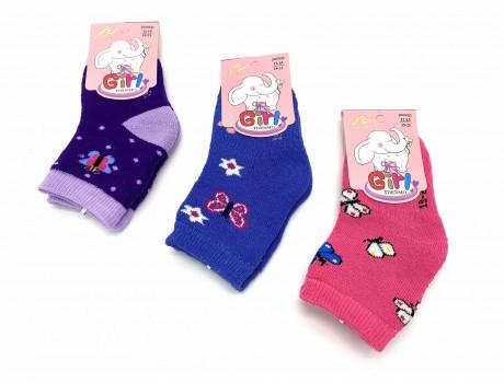 Носки детские махровые термо для девочек с рисунком Вальс Ва-30