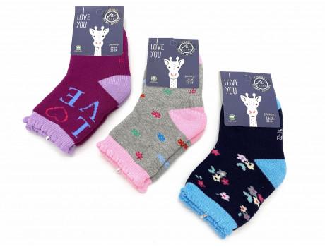 Носки детские для девочек хлопковые махровые Вальс В2802